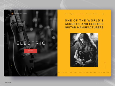 Online store selling guitars webdesigninspiration webdesigning webdesignanddevelopment webdesign visualdesign userinterfacedesign userinterface uitrends uiinspiration uidesigns uidesign ui guitar digitaldesign design