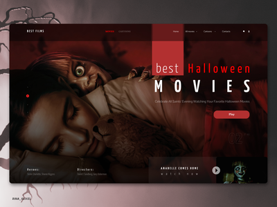 The best movies for Halloween webdesign web uidesigns uidesign ui digitaldesign design halloween halloween design movies films