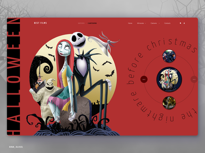 The best cartoons for Halloween webdesign uidesign ui halloween cartoons design