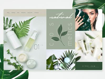 Natural cosmetics website webdesigning digitaldesign uidesigns uitrends webdevelopment art visual design userinterface uidesign design cosmetic webdesigninspiration web design webdesign