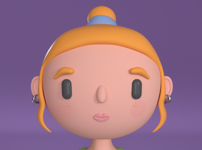hey character design illustration 3d