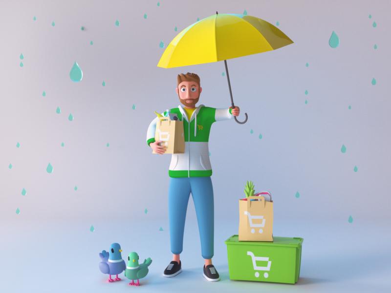 market character design illustration 3d