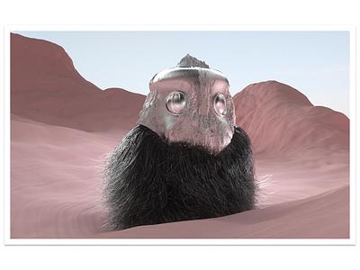 Nomade abstract illustraion cinema4d octane character design illustration 3d