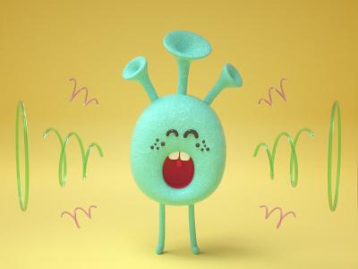 Loud illustraion cinema4d octane character design illustration 3d