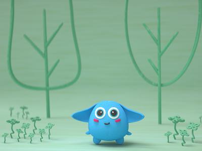 Cutie illustraion cinema4d octane character design illustration 3d