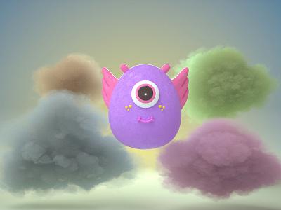 Floaty illustraion cinema4d octane character design illustration 3d