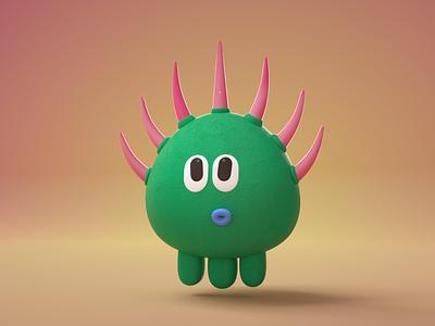 Prickly commercial illustraion cinema4d octane character design illustration 3d