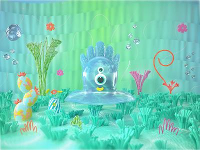Wetty illustraion cinema4d octane character design illustration 3d