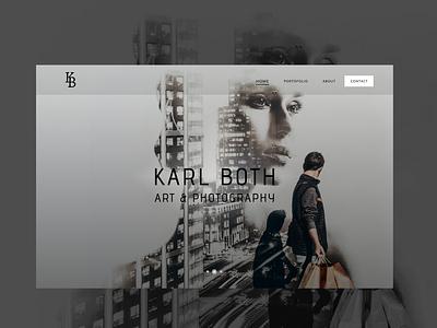 Landing Page from Photography Website web logo design minimal figma ui