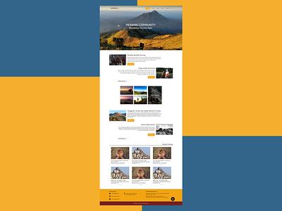 Redesign Merbabu.com Website simple minimal web redesign website figma design