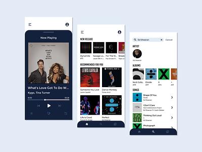 Music Player App mobile design mobile app design music player music app app ui minimal figma simple design