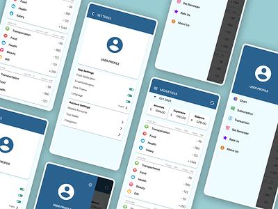 Money Tracking Apps management app money management money app tracking app ui simple figma design