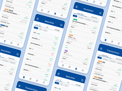 Redesign: Mutual Fund/Stock app from FundsIndia App trade money holdings stock mutual fund redesign app simple ui minimal figma design