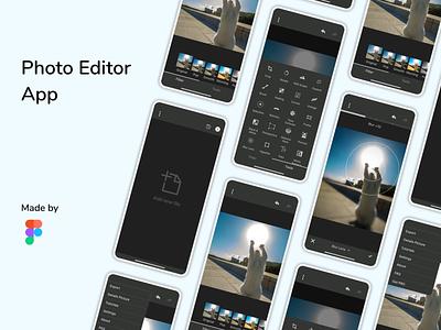 Photo Editor App edit photo simple design redesign app ui figma