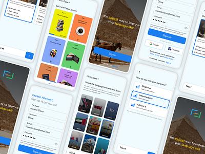 Learning language app learning language ux app ui design figma