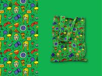 "Pattern ""Care"" from Serias Casa de Ramos | Tote Bag Design"