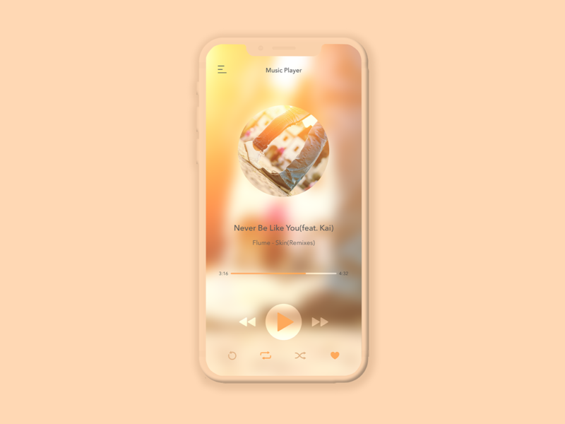 Daily UI #8 - Music Player
