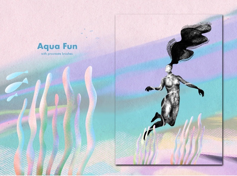 Under water texture graphicdesign illustration procreate procreate brushes character