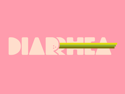 Diarrhea Logo typography logo pink gross poop diarrhea