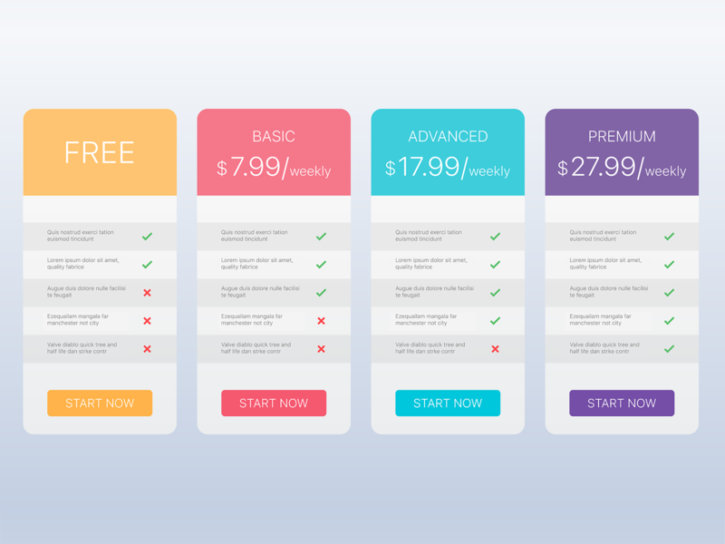 Pricing Table simple design simple shopping shopify shop ui design ui  ux ui add card pricing plans web design website web pricing plan pricing table pricing price