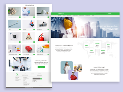 Occupational Health and Safety Company Homepage landing homepage logo add shopify add card website shop brand uidesign uiux ui banner architect safety healthy health
