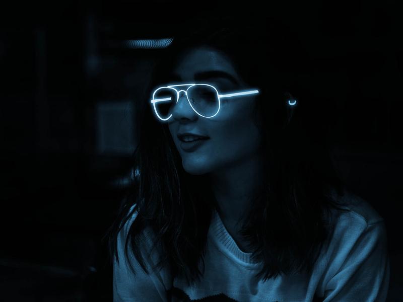 Glowing Effect dark portrait glow filters effects neon light practice photoshop graphics graphicdesign designer designbyayesha design beginner