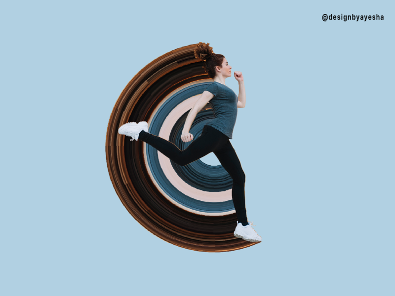 pixel stretch stretch cool amazing fast blue colour filter creativity art jumping running pixel effect practice photoshop graphics graphicdesign designer designbyayesha design