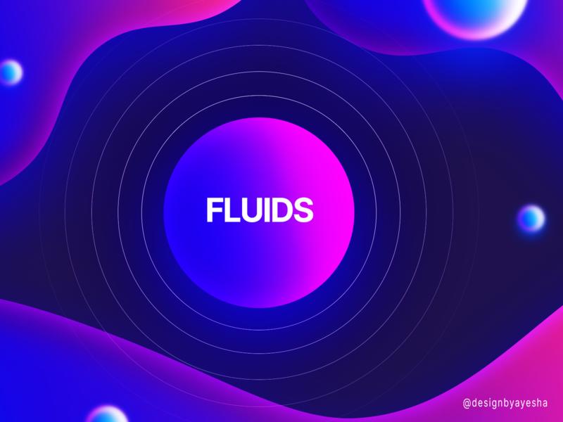 Fluid Gradient colourbalance hue levels curves filter pink and blue fluid gradient effect practice photoshop graphics graphicdesign designer designbyayesha design