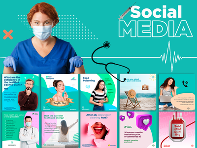 Social Media - Healthcare care healthy disease dentist doctor brand design branding social media design social network social media poster design socialmedia facebook design instagram design photoshop graphics graphicdesign designer designbyayesha design