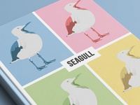 Screaming seagull illustrations(book cover)