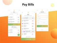 mobile app design for budget planner