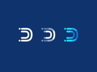 Logotype for letter D