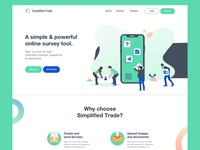 Home page for Simplified Trade