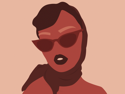 Jey! I found your nose. It was in my buisness, again! Hah art women vector digital drawing adobe illustrator