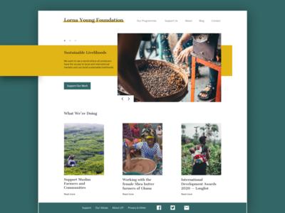 Lorna Young Foundation Redesign web design minimalism design ui