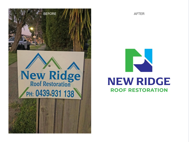 Bad Logos Gone Good  |  New Ridge Roof Restoration