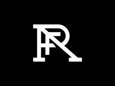 RPAF Monogram letter logo letters monogram logo black and white black minimal vector illustration monogram design branding negative space bold logo design logo