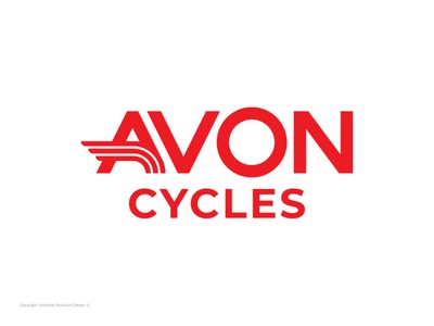 Bad Logos Gone Good | Avon Cycles badlogo logodesign bicycle logo cycle redesign rebrand red bicycling bicycle cycles monogram vector design branding negative space bold logo design logo