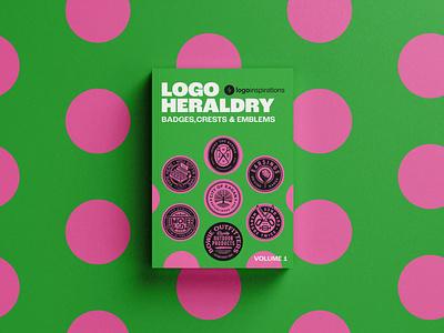 Logo Heraldry by LogoInspirations (ebook) logo book crest patch ebook heraldry emblem badge design branding bold logo design logo
