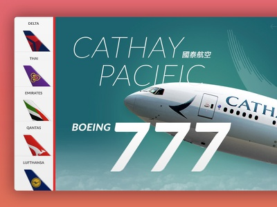 Cathay Pacific Boeing 777 user interface aviation aircraft airlines ui