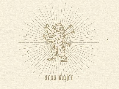 ursa major woodcut engraving illustration constellations ursamajor