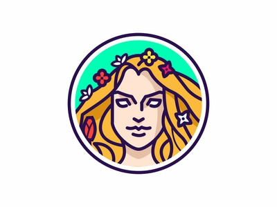 Spring goddess Vesna illustration logo slavic folklore goddess spring vesna
