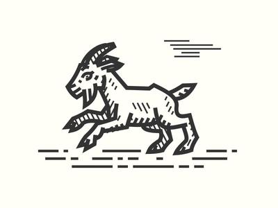 Billy Goat Kozel woodcut kozel lineart medieval goat