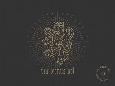 Lion sun king linework vector lion king lion logo logo lion sun king