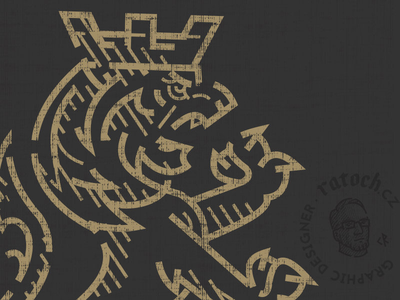 Lion crown logo lion