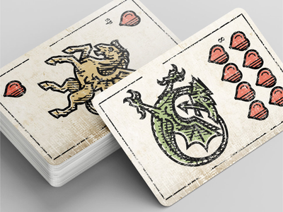 Playing cards pegas and ouroboros pegas serpent playing card