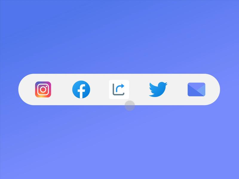 Social share button socialshare dailyui