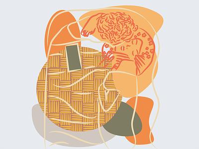 Gustav Klimt illustration art vectorart logo vector palette klimt minimal illustration design art abstract