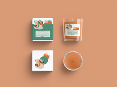 NO.9 GRAPEFRUIT: SCENTED CANDLE vector typography abstract layout design layout illustrator illustration graphic design logodesign mockup packaging design packaging design branding logo