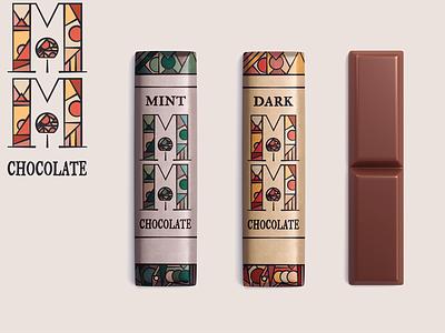 MiMi Chocolate - Mint/Dark Packaging chocolate bar vector packaging package design mockup design mockup logo design logodesign logo layout design layout illustrator typography illustraion graphic design design branding art abstract chocolate